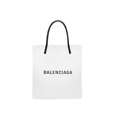 [스페셜오더]BALENCIAGA-572411 발렌시아가 화이트 SHOPPING XXS NORTH SOUTH 토트백