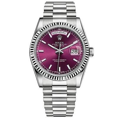 [스페셜오더]ROLEX-롤렉스 데이-데이트 스틸 체리다이얼 남성 시계 36mm