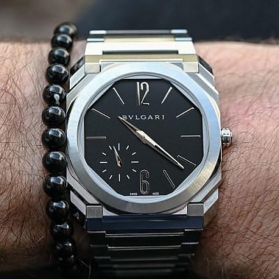 [스페셜오더]BVLGARI-불가리 옥토 피니씨모 스몰 세컨드 스틸 블랙 남성워치 40mm
