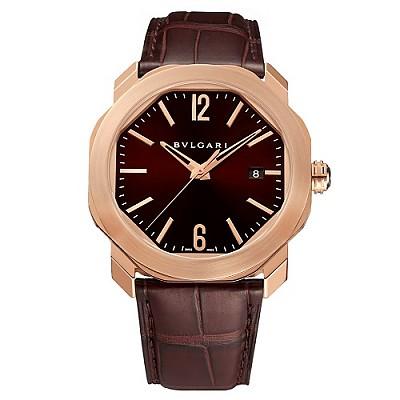 [스페셜오더]BVLGARI-불가리 옥토 로마 로즈 골드 다크 브라운 남자시계 41mm