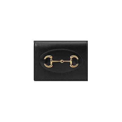 [스페셜오더]GUCCI-621887 1000 구찌 블랙가죽 1955 홀스빗 카드 케이스 지갑