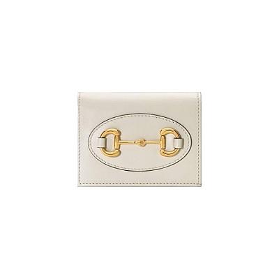 [스페셜오더]GUCCI-621887 9022 구찌 화이트가죽 1955 홀스빗 카드 케이스 지갑
