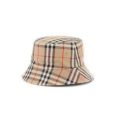 BURBERRY-8021508 버버리 빈티지 체크 코튼 남녀공용 버킷 모자