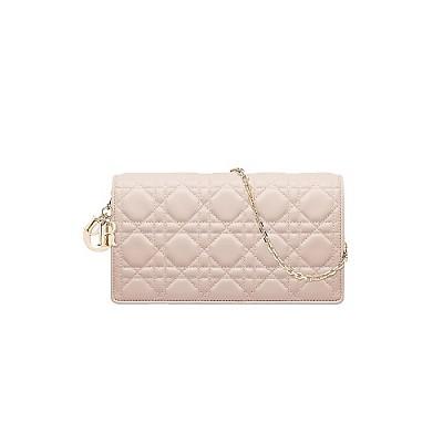 [스페셜오더]Christian Dior-S0204 크리스찬 디올 더스트 핑크 까나쥬 Lady Dior 체인 클러치 백