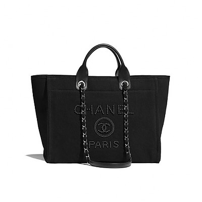 [스페셜오더]CHANEL-A66941 샤넬 블랙 캔버스 도빌 쇼핑백