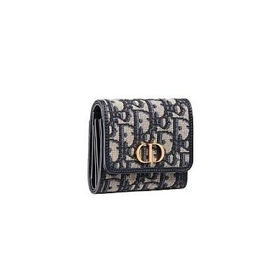 [스페셜오더]DIOR-S2057 디올 블루 오블리크 30 MONTAIGNE LOTUS 몽테뉴 로터스 지갑