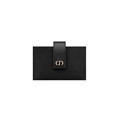 [스페셜오더]DIOR-S2058 디올 블랙 30 MONTAIGNE 몽테뉴 아코디언 카드 지갑