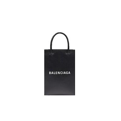 [스페셜오더]BALENCIAGA-5938260 발렌시아가 블랙 쇼핑 휴대폰 지갑 폰 홀더