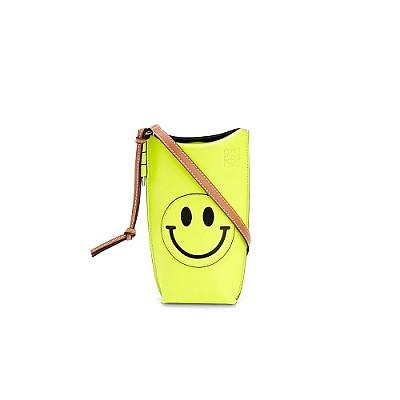 [스페셜오더]LOEWE-C650 로에베 네온 옐로우 클래식 Smiley Gate Pocket 스마일리 게이트 포켓 백