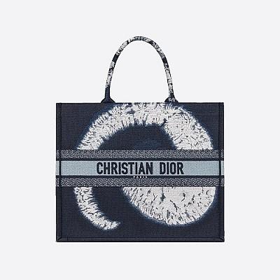 [스페셜오더]DIOR-M1286ZT 크리스찬 디올 블루 멀티 컬러 Tie & Dior 자수 BOOK TOTE 백