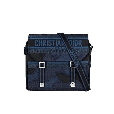 [스페셜오더]DIOR-M1291 디올 블루 카모플라쥬 자수 캔버스 디올캠프 백