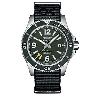 [스페셜오더]BREITLING-브라이틀링 슈퍼오션 아우터노운 스틸 그린 시계 44mm