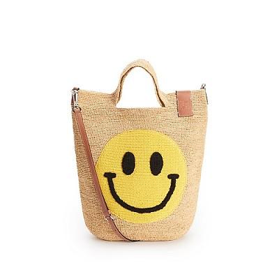 [스페셜오더]LOEWE-A685 로에베 네츄럴/옐로우 라피아 Smiley Slit bag 스마일리 슬릿 백