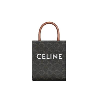 [스페셜오더]CELINE-194372 셀린느 탄 트리오페 캔버스 미니 버티컬 카바스 백