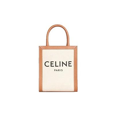 [스페셜오더]CELINE-193302 셀린느 내추럴 캔버스 프린트 미니 버티컬 카바스 백
