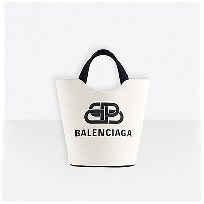 [스페셜오더]BALENCIAGA-92933 발렌시아가 내추럴 웨이브 캔버스 토트백 XS