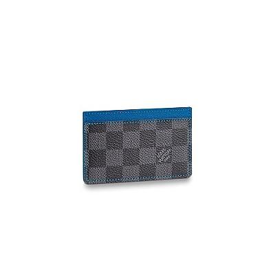 LOUIS VUITTON-N64029 루이비통 일렉트릭 블루 다미에 그라파이트 카드 홀더