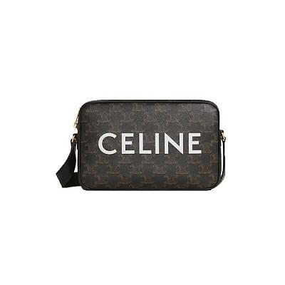 [스페셜오더]CELINE-194502 셀린느 블랙 트리오페 미디엄 메신저 백