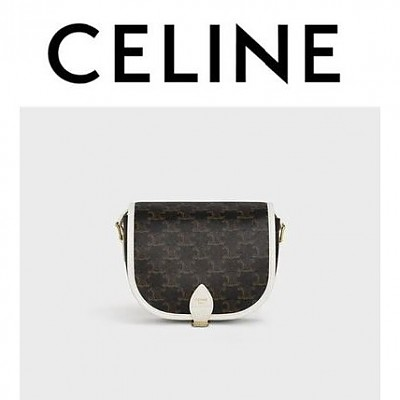 [스페셜오더]CELINE-191502 셀린느 화이트 트리오페 미디엄 폴코백