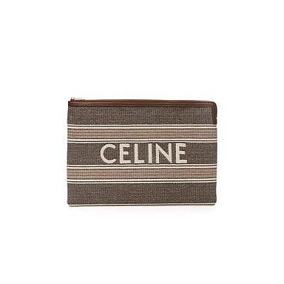 [스페셜오더]CELINE-10B802 셀린느 그레이 자카드 스트라이프 라지 파우치