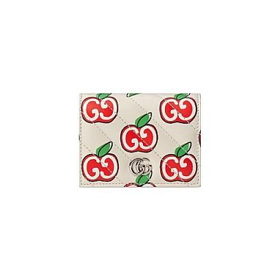 GUCCI-466492 9086 구찌 차이니스 발렌타이 데이 GG 마몽 GG 애플 프린트 카드 케이스 지갑