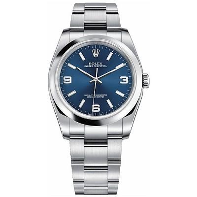 [스페셜오더]ROLEX-롤렉스 오이스터 퍼페츄얼 스틸 블루 남녀공용 시계 36mm