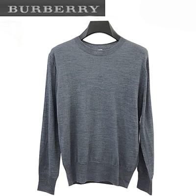 BURBERRY-08287 버버리 라이트 블루 TB 로고 디테일 스웨터 남성용