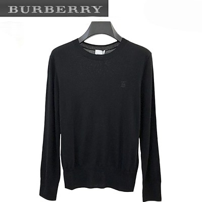 BURBERRY-08288 버버리 블랙 TB 로고 디테일 스웨터 남성용