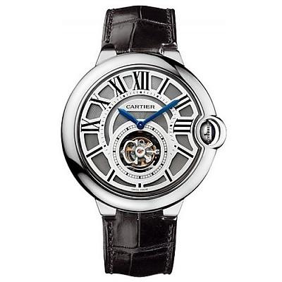 [스페셜오더]Cartier-까르띠에 발롱 블루 드 까르띠에 플라잉 뚜루비옹 XL 스틸 실버 시계 42mm