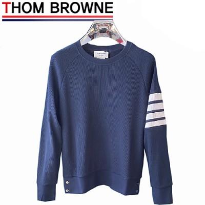 THOM BROWNE-08307 톰 브라운 네이비 스트라이프 장식 스웨트셔츠 남여공용