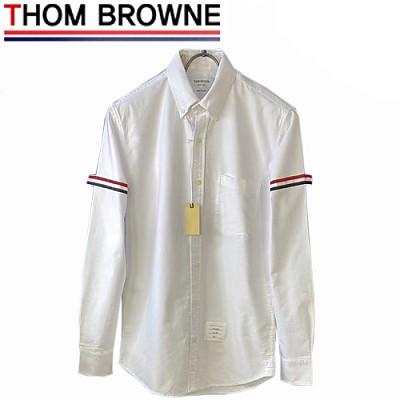 THOM BROWNE-08216 톰 브라운 화이트 스트라이프 장식 셔츠 남여공용