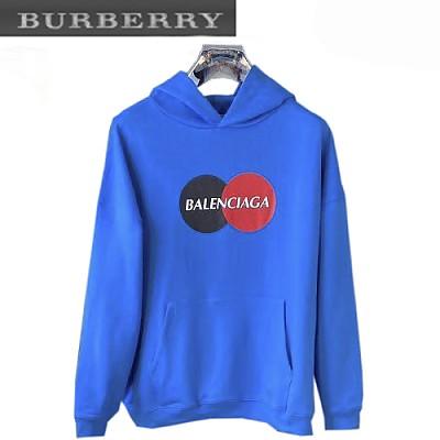 BALENCIAGA-620973 발렌시아가 블루 컬리 플리스 Uniform 후디 남여공용