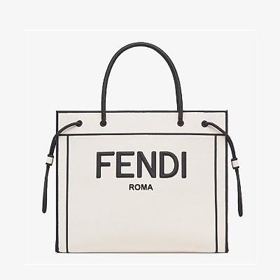 [스페셜오더]FENDI-8BH379 펜디 내추럴 캔버스 로마 라지 쇼퍼백