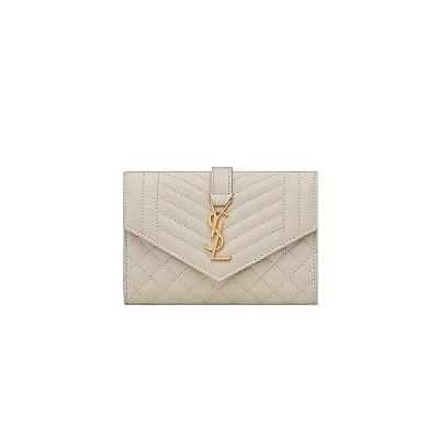 SAINT LAURENT-651026 생 로랑 BLANC VINTAGE 믹스 마틀라세 스몰 엔벨로프 지갑