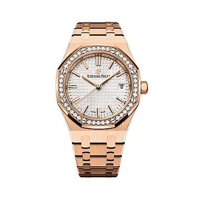 [스페셜오더]Audemars Piguet-오데마피게 로얄 오크 셀프와인딩 핑크 골드 다이아 Ladies시계 34mm