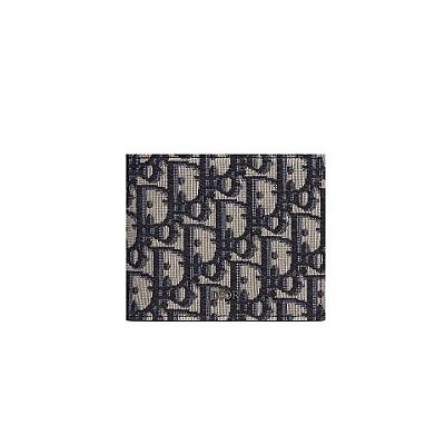 [스페셜오더]DIOR-2OBBH 디올 베이지&블랙 Oblique 자카드 컴팩트 지갑
