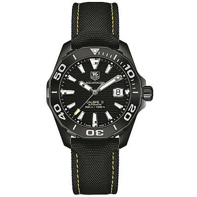 [스페셜오더]TAG Heuer-태그호이어 아쿠아레이서 칼리버 5 세라믹 베젤 블랙 다이얼 시계 41mm