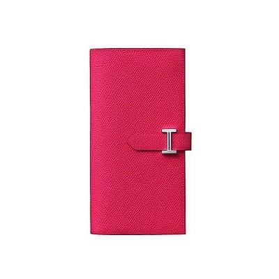 [스페셜오더]HERMES-H0397 에르메스 로즈 익스트림 Bearn 베안 미디움 여성 장지갑