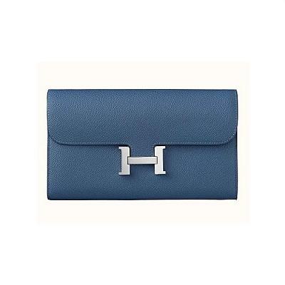 [스페셜오더]HERMES-H0761 에르메스 블루 Constance 콘스탄스 여성 장지갑