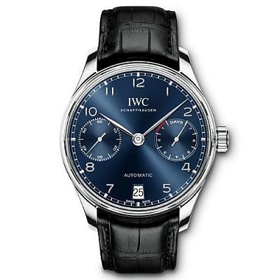 [스페셜오더]IWC-IW500710 아이더블유씨 포르투기저 오토매틱 스틸 블루다이얼 시계42mm 신형