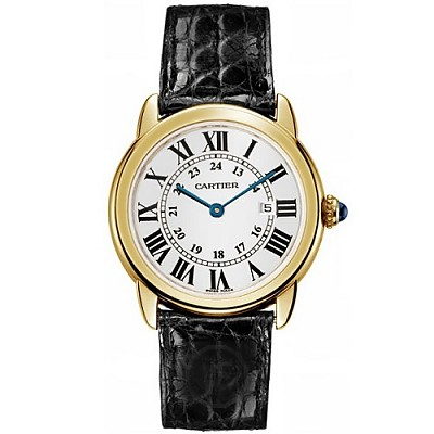 [스페셜오더]Cartier-까르띠에 롱드 솔로 드 까르띠에 쿼츠 옐로우 골드 실버 시계 36mm