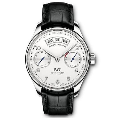 [스페셜오더]IWC-IW503501 아이더블유씨 포르투기저 애뉴얼 캘린더 스틸 실버다이얼 남성시계44mm